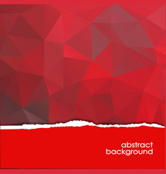 abstract red background with a polygonal pattern vector image