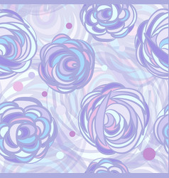 abstract roses flowers vector image