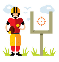 american football player flat style vector image