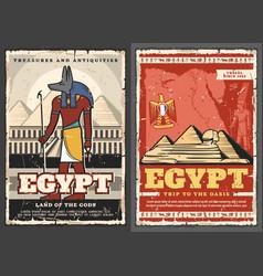 Ancient egypt god ra cairo pyramids phoenix bird vector