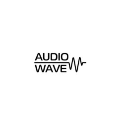 audio wave or cardio wave logo template vector image