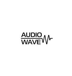 Audio wave or cardio wave logo template vector