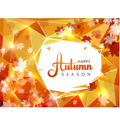 autumn season background with white circle vector image