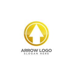 Awesome arrow logo design template vector