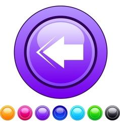 Back arrow circle button vector image vector image