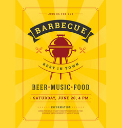 Barbecue party invitation flyer or poster design vector