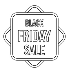 Black Friday sale banner icon outline style vector