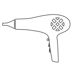 blow dryer hair dryer icon vector image