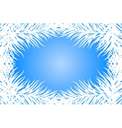 blue frame with fir branches vector image