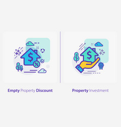 business and finance concept icons empty property vector image