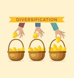 Business concept of diversification vector