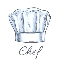 Chef toque sketch icon vector