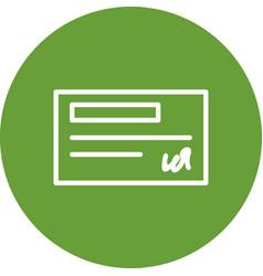 Cheque icon vector
