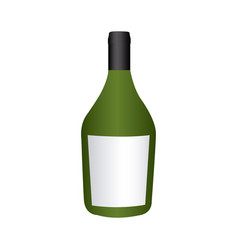 colorful realistic wide champagne bottle with vector image
