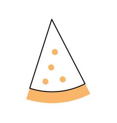 Delicious pizza isolated icon vector