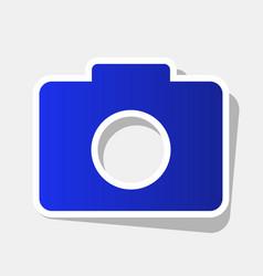 digital camera sign new year bluish icon vector image