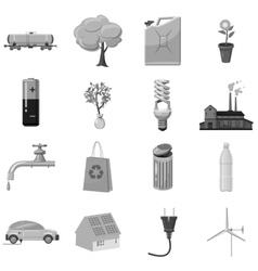 Ecology and environmental icons set vector