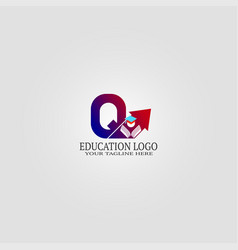 Education logo template with q letter logo vector