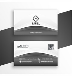 elegant gray modern business card design template vector image
