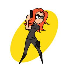 Female spy vector