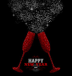 happy new year 2017 red party drink vector image