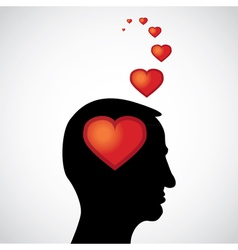 heart in the mind vector image