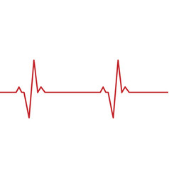 heartbeat line background vector image