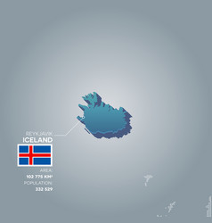 Iceland information map vector