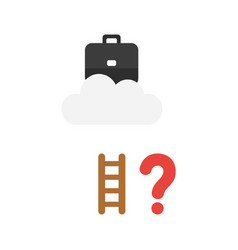 icon concept of briefcase on cloud with short vector image