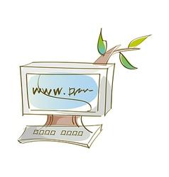 Icon monitor vector