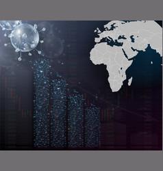 impact coronavirus on stock exchange vector image