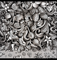 India hand drawn doodles vector