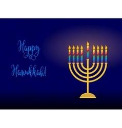 Jewish holiday of Hanukkah hanukkah menorah and vector