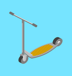 kick scooter transport isometric vector image