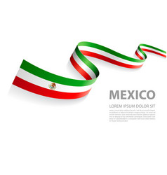 mexican flag banner vector image