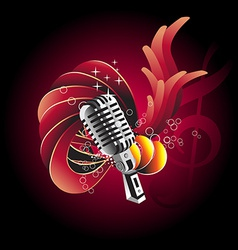 Mic design vector image