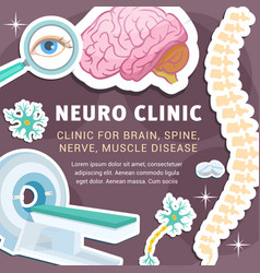 Neurology medicine and clinic poster vector