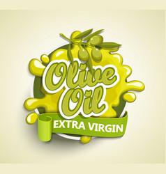 Olive oil extra virgin label vector