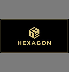 oy hexagon logo design inspiration vector image