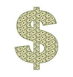 paper dollar sighn vector image