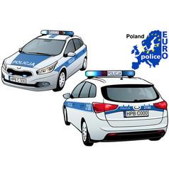 Poland police car vector