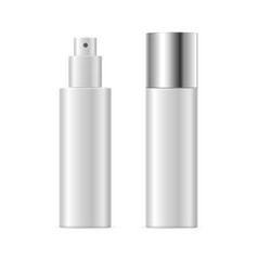 Realistic template blank white spray cosmetic tube vector