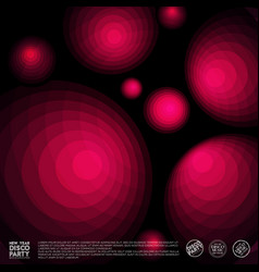 red disco background vector image