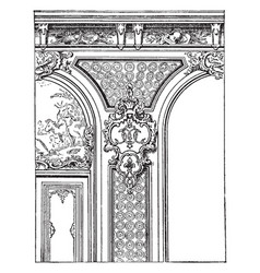 Regency style during the regency era in the early vector