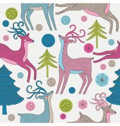 Reindeer Background vector image vector image