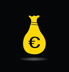 Sack of money euro color ilustration vector