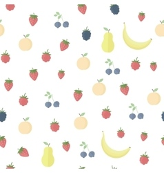 Seamless background with fruits and berries vector