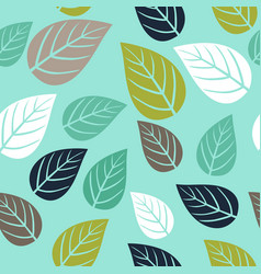 seamless pattern with simple leaf botanical vector image