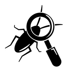 search insect icon simple black style vector image