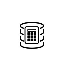 Secure database icon flat design vector